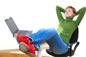 how to a job efficiently lēad blog job aggregators wh a w reclines at her desk because how to a job is for her