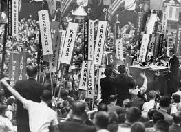 「On July 13, 1960, then-Senator John F. Kennedy is nominated as the Democratic Party's candidate for president at the party's convention in Los Angeles.」の画像検索結果