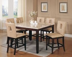 tall dining chairs counter:  gorgeous dining room design with marble counter tall dining table fantastic dining room decoration with