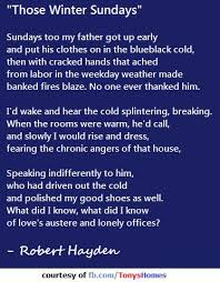 those winter sundays quot  by robert hayden   sentiments   pinterest     quot those winter sundays quot  by robert hayden