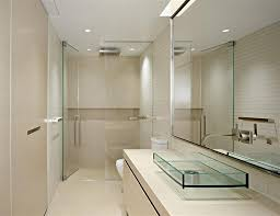ideas small bathrooms shower sweet: modern ideas for small bathroom matched with large small bathroom wall mirorr and awesome transparent