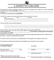 sample contract student organization guide sample contract