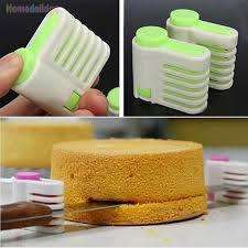 <b>2Pcs 5</b> Layers Kitchen DIY Cake <b>Bread Cutter</b> Leveler Slicer Cutting ...