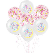 Online Shop 10pcs Unicorn Confetti <b>Sequin Balloon</b> Birthday <b>Party</b> ...