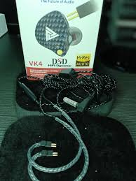 BLCK Earphones - <b>QKZ VK4</b> HiFi Earbuds <b>Stereo</b> Metal In Ear ...