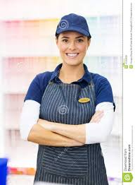 paint store worker stock photo image  paint store worker