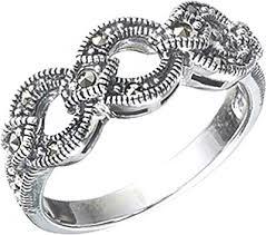 Серебряное кольцо <b>Марказит</b> HR347-<b>mr</b> с марказитами Swarovski