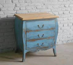 special spot export of solid wood furniture blue distressed pine bedside cabinet bed antiquing wood furniture