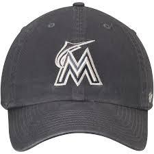 <b>Men's Miami</b> Marlins '47 <b>Gray Vintage</b> Clean Up Adjustable Hat