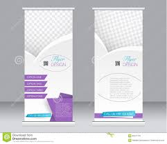 roll up banner stand template abstract background for design roll up banner stand template abstract background for design royalty stock photos