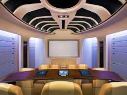 themed family rooms interior home theater: garage redo themed home theaters  star trek home theaterjpgrendhgtvcom