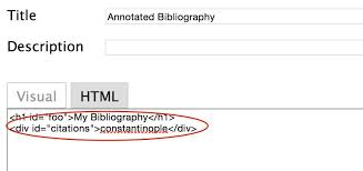 Insert Bibliography