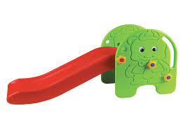 <b>Горка Edu Play Малыш</b> зеленый-красный-желтый 114*37.5*58 ...