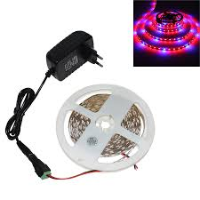 <b>1/2/3/4</b>/<b>5m LED phyto Grow</b> Light LED tape for plants with 2A Power ...
