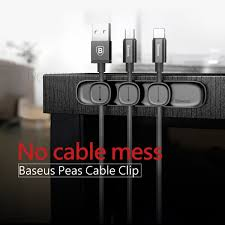<b>BASEUS Peas Cable Clip</b> Magnetic USB Cord Holder Wire Organizer