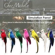 <b>Creative</b> Foam Feather <b>Artificial Parrot Imitation</b> Bird Model Home ...