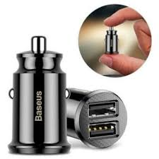 Baseus Grain Mini 3.1A Dual USB Fast <b>Car</b> Charger with Upgraded IC