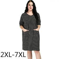<b>Plus Size Women</b> Clothing <b>2xl 6xl</b> 7xl Vertical Loose A line Casual ...