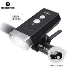 <b>ROCKBROS</b> Cycling Bicycle <b>Bike Light Front</b> 1800Lm Headlight 2 ...