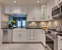 modern kitchen cabinet hardware traditional: super kitchen style waplag apron sink with white cabinets and tile flooring kohler front base