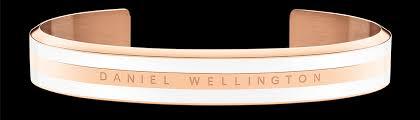 <b>Classic Bracelet Satin White</b> Rose Gold <b>Medium</b>