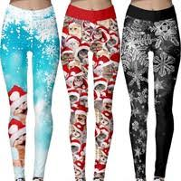 <b>2019 New Fashion Christmas</b> Women Leggings Snowflake And Cat ...