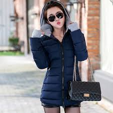 <b>2019</b> women winter hooded warm <b>coat</b> plus size candy color cotton ...