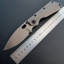 Eafengrow EF225 Folding Blade Knife <b>D2 Steel Titanium</b> and ...