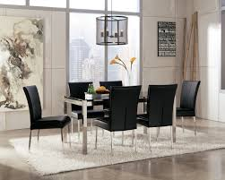 White Dining Room Chairs Dining Room Furniture Dining Room Amazing Black Glass Top Modern