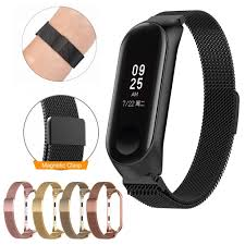 For <b>Xiaomi</b> Mi Band 3 4 Strap Metal Buckle Miband 4 Strap Stainless ...