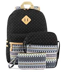 Plambag Canvas <b>Backpack Set 3 Pcs</b>, Casual Lightweight <b>School</b> ...