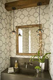 the powder bath is an excellent space to have a little fun and flex your creative bathroom vanity mirror pendant lights glass