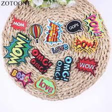 <b>ZOTOONE</b> Cheap Embroidery Applique <b>Iron On Letter</b> Patch ...