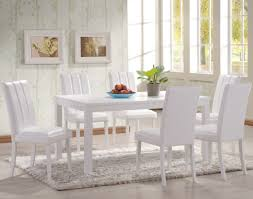 Distressed White Kitchen Table Dining Room Sleek Traditional White Rectangle Dining Table With