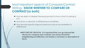 compare and contrast essay writing purpose to reveal 4 most