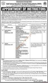sindh technical education amp vocational training authority jobs  sindhtechnicaleducationvocationaltrainingauthorityjobsjang