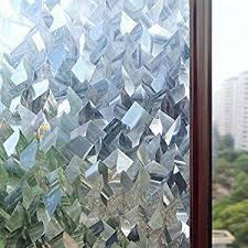 <b>Rabbitgoo 3D Crystal</b> Icicles Effect No Glue Static Cling Privacy ...