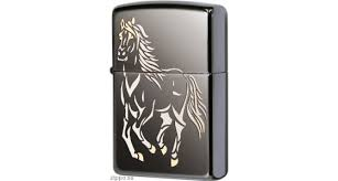 <b>Зажигалка Zippo</b> 28645 <b>Running Horse</b> Black Ice, Polish Finish