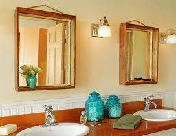 wood bathroom mirror digihome weathered: wooden bathroom mirrors digihome laminate hardwood wooden bathroom mirrors natural material towel use lamp lens full frame accessories blue