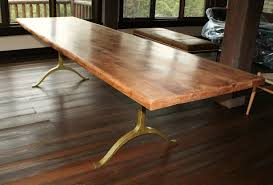 long wood dining table: tasteful lacquered oak dining table with metal legs ideas attractive handmade rustic style on dark wood