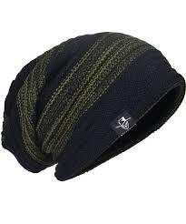 Men Two-Tone Slouchy Beanie Skull Cap Lining Hats DB306 Green ...