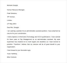 general administrative assistant cover letter executive assistant cover letter