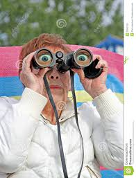 Image result for looking out with binoculars