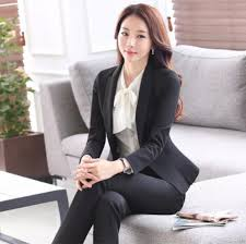 online get cheap womens interview com alibaba group new women interview formal work office long sleeve coat pant suits ol slim v neck business blazer slim suit