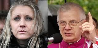 Małgorzata Marenin, abp Michalik (Fot. AG). Wrocławski sąd oddalił dziś zażalenie działaczki ruchu feministycznego Małgorzaty Marenin na postanowienie o ... - z15716382Q,Malgorzata-Marenin--abp-Michalik