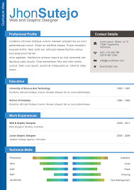 resume template designs creatives graduates psd resume template design
