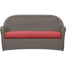 brown wicker outdoor furniture dresses: summerlin sofa with sunbrella cushion summerlin sofa with sunbrella cushion rose