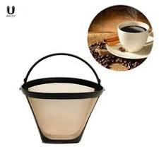 <b>Rose Gold Metal Reusable</b> Coffee Filter Holder Coppper Brew Drip ...