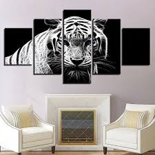 <b>HD</b> spray painting wall painting <b>5 pieces</b> tiger animal paints pictures ...