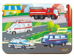 <b>Рамка</b>-<b>вкладыш Woodland Спец</b> автомобили (011405), 4 дет ...